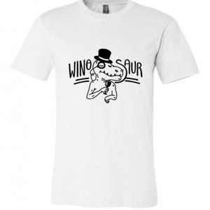 Winosaur- Dinosaur Holding Wine Glass Funny Shirt